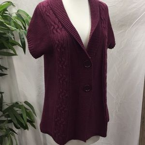 Croft & Barrow Maroon Short Sleeve Sweater